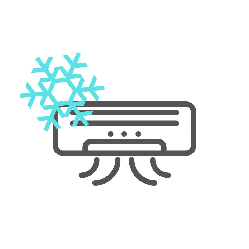 Logo de aire acondicionado